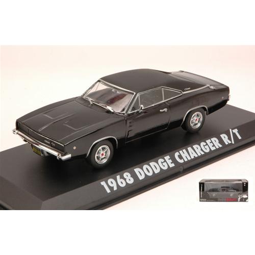 Modellauto 1:43 Greenlight Collectibles Dodge Charger R//T 1968 Bullitt schwarz